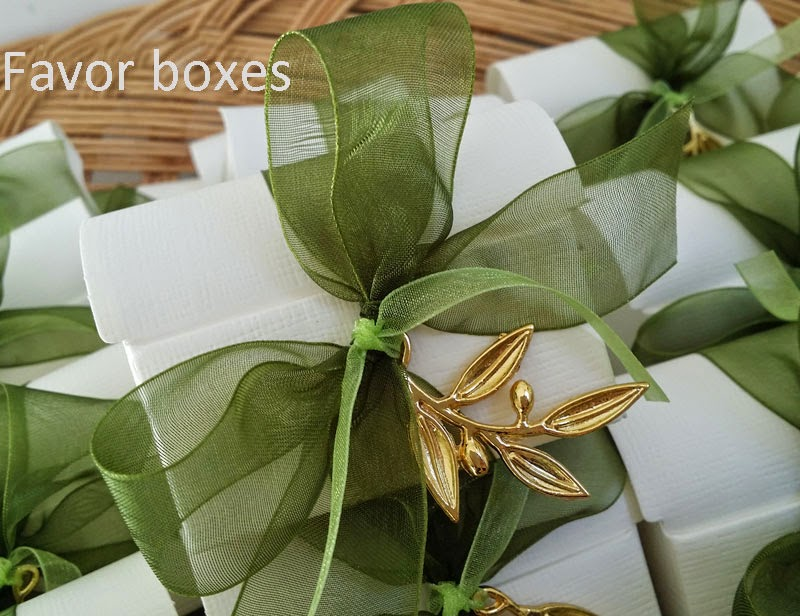Favor boxes for wedding