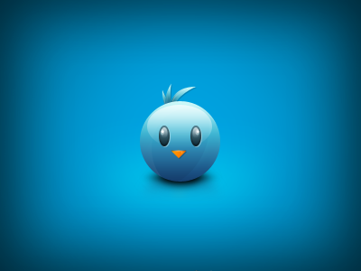Cute Bird Head Twitter Icon