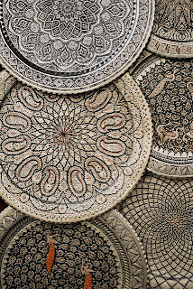 Beautifully detailed, textured Iranian plates