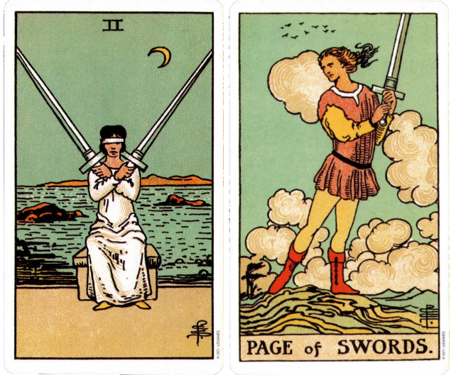 Dating the page of swords