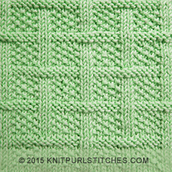 Knitting Stitch Patterns That Lie Flat : Knit - Purl stitches