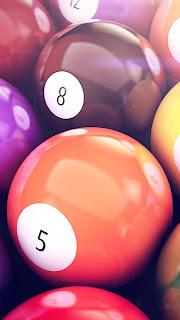 Billiards Balls Macro iPhone 5 hd wallpaper 2013