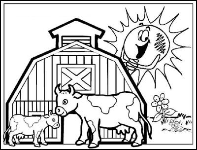 Malvorlagen mit Tieren für Kinder im kidsweb de - tiere auf dem bauernhof malvorlagen