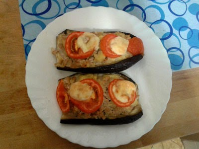 cocina sana berenjenas rellenas carne picada leche evaporada tomate queso lastrend charlas de café