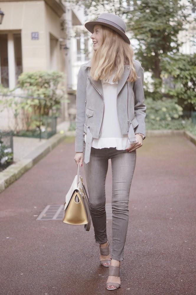 sandro, grey, jbrand, maison michel, alexander mcqueen, céline, streetstyle, fashion blogger, look du jour, outfit