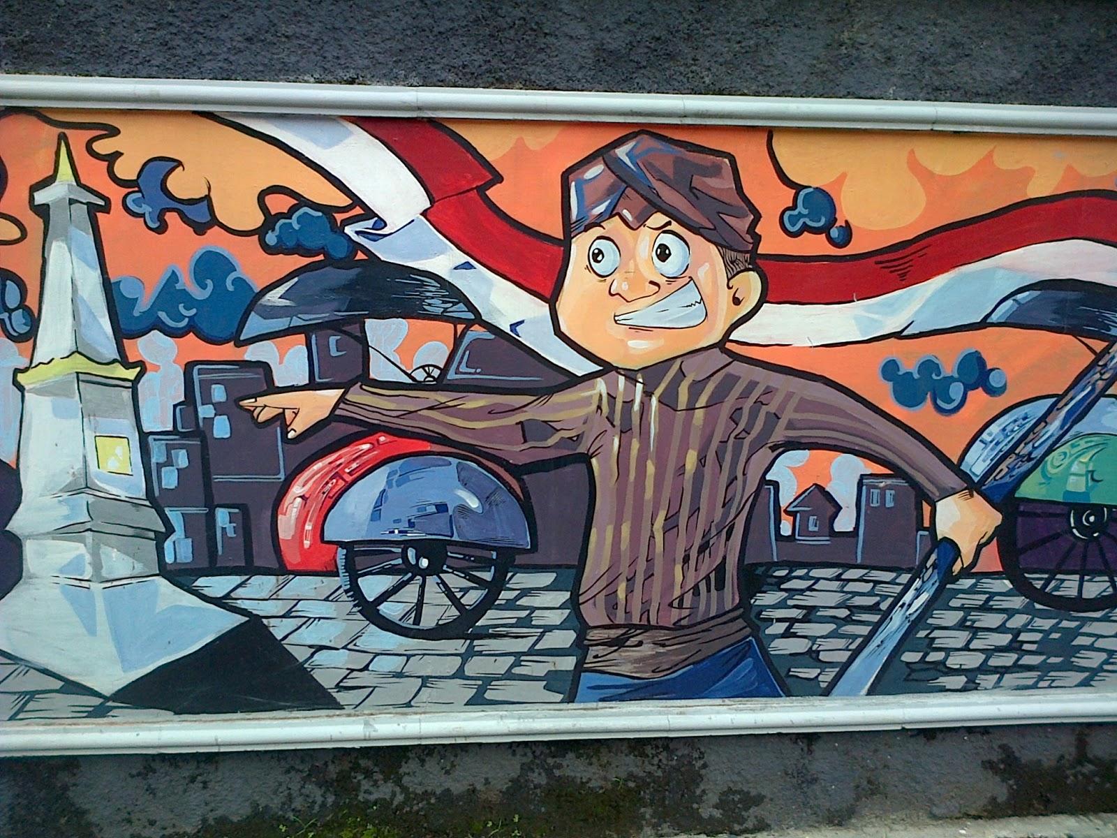 mural cinta budaya indonesia joogja circles