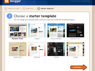 memilih template blogspot