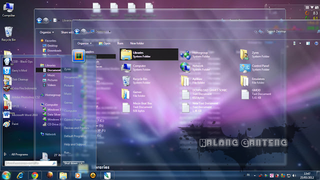 Fullglass theme for Win7 Screenshot