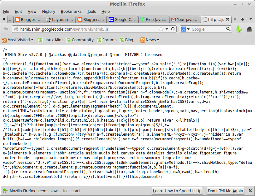 contoh kode javascript