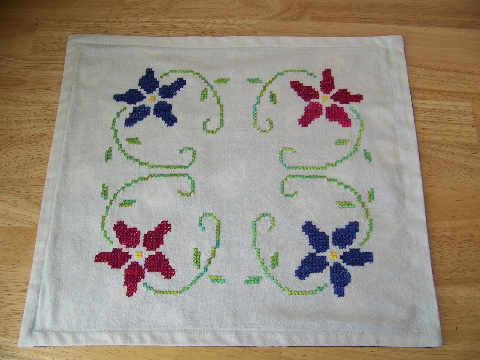 Hand eye mind mouth embroidered mexican linens picture
