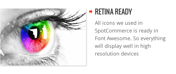 Retina Ready - SpotCommerce Blogger Shopping Template