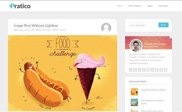 Chia sẻ 2 Template Blogspot Pratico Responsive