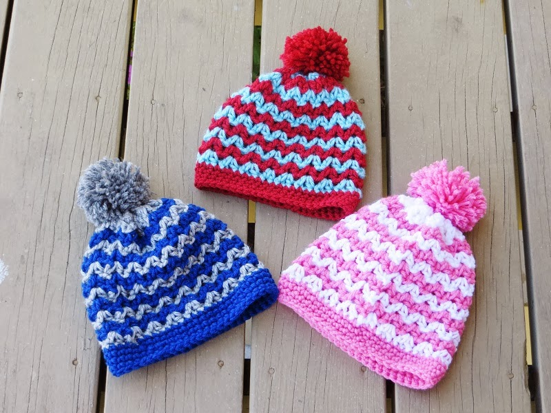 Alexis Beanie Crochet Pattern For Boys Or Girls Newborn To Woman