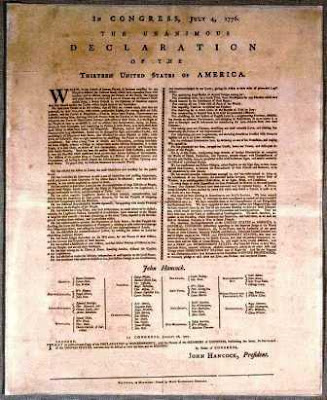 Mary Katherine Goddard Declaration of Independence Broadside