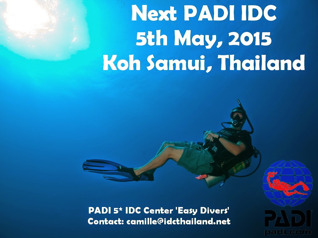 Next PADI IDC on Koh Samui, Thailand 5th May, 2015