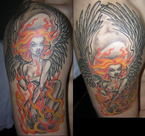 angry angel tattoos  tattoos images