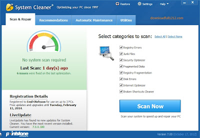 PointStone System Cleaner 7 Offline Installer + License