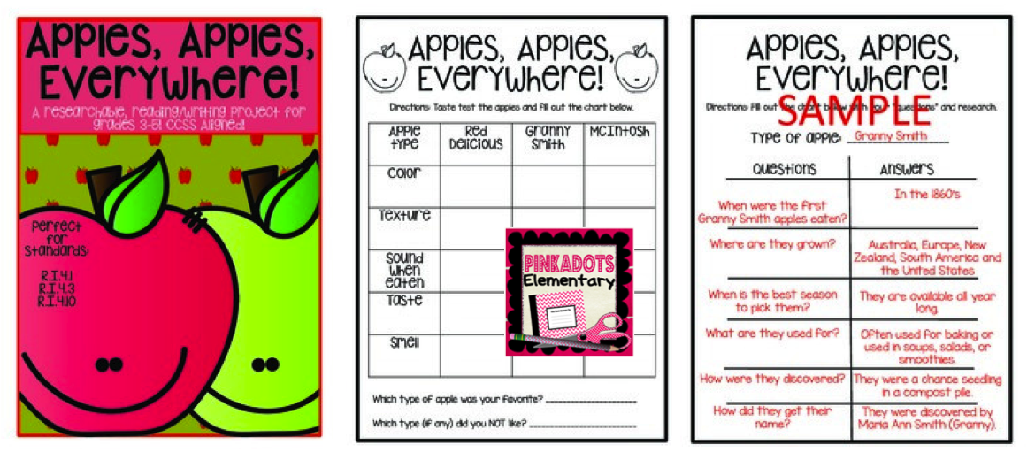 http://www.teacherspayteachers.com/Product/Apple-Informational-Narrative-Journal-Entry-Research-Project-Grades-3-5-CCSS-1445197