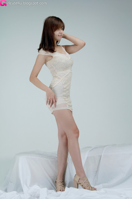 5 Jung Se On - Beige Mini Dress-very cute asian girl-girlcute4u.blogspot.com