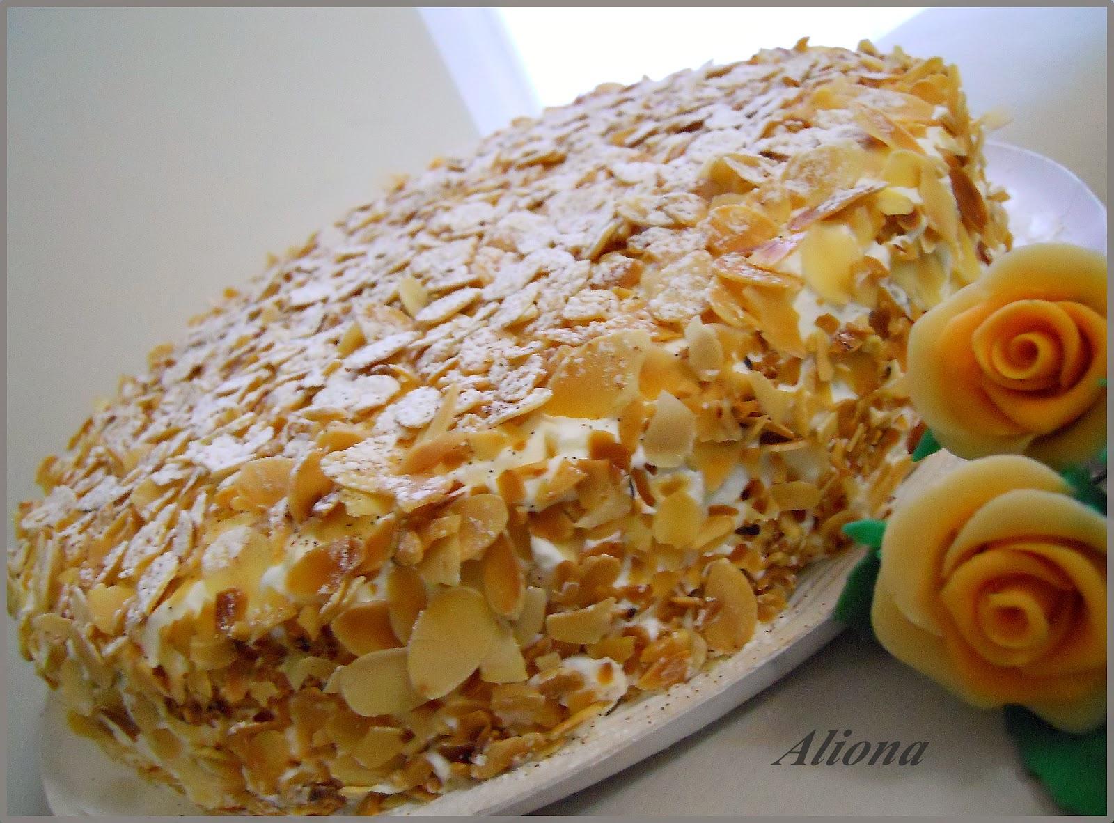 Dulces Aliona Tarta De Almendras Y Manzanas Caramelizadas  ~ Bizcocho De Almendras Esponjoso