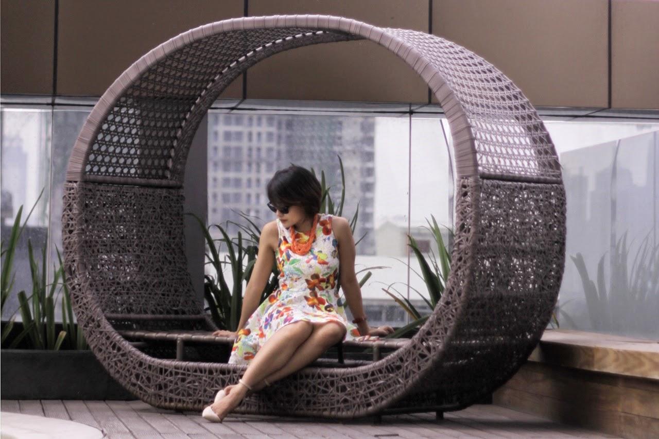 the Ramp, summer dress, suiteblanco heels, Bonifacio Global City