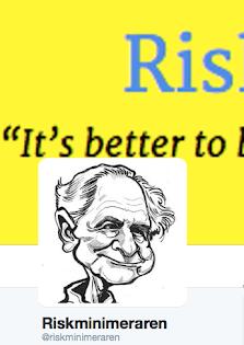 Riskminimeraren nu också på twitter - klicka på bilden nedan