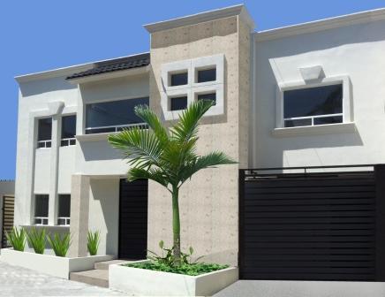 Fachadas de casas modernas elegante fachada de casa moderna for Fachadas de ventanas para casas modernas