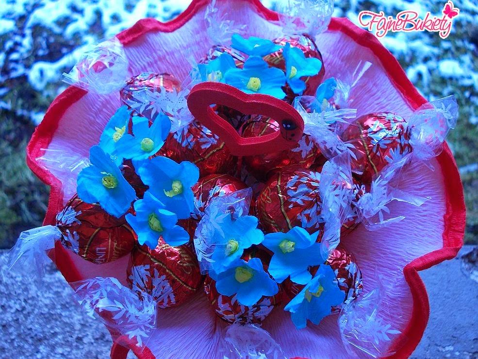 Słodki bukiet z cukierków - Lindorki