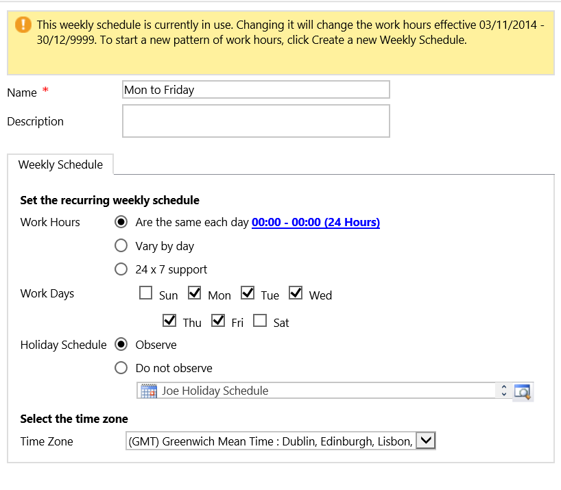 How To Configure A Sla To Calculate Workings Days Microsoft