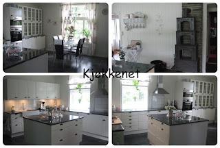 Drømmekjøkken!!!! Dem har et stort og flott kjøkken. Eg elsker den ...
