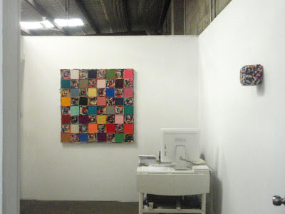 kate mackay, crocheted, square, cube, factory 49, non objective, geometric abstraction