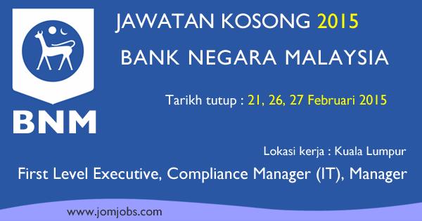Jawatan Kosong Bank Negara Malaysia 2015 Terkini
