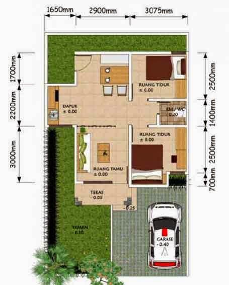 Contoh Denah Rumah Minimalis Type 45 | Desain Rumah Sederhana ...