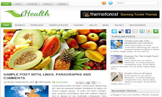 iHealth Blogger Template