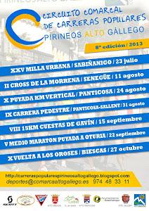 Carreras Comarca Alto Gallego 2013