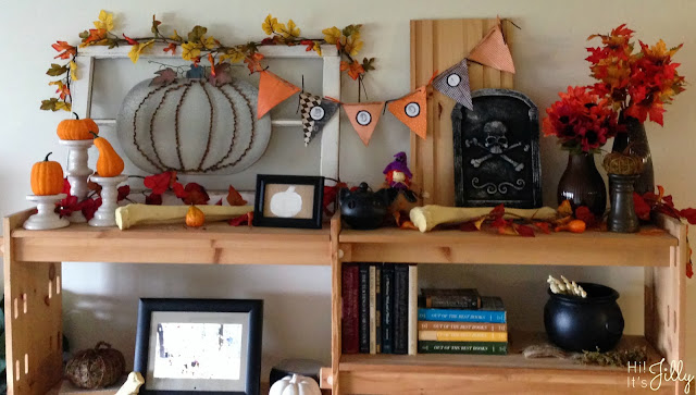 Framed Burlap Pumpkin Tutorial and Fun Fall Decor from Hi! It's Jilly
