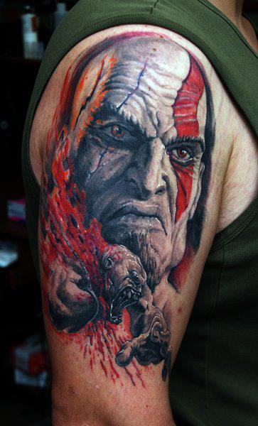 Maneirissima TATTOO de Kratos - God of War