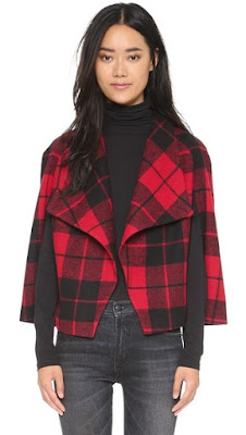SHEERAN PLAID CAPELET BB DAKOTA