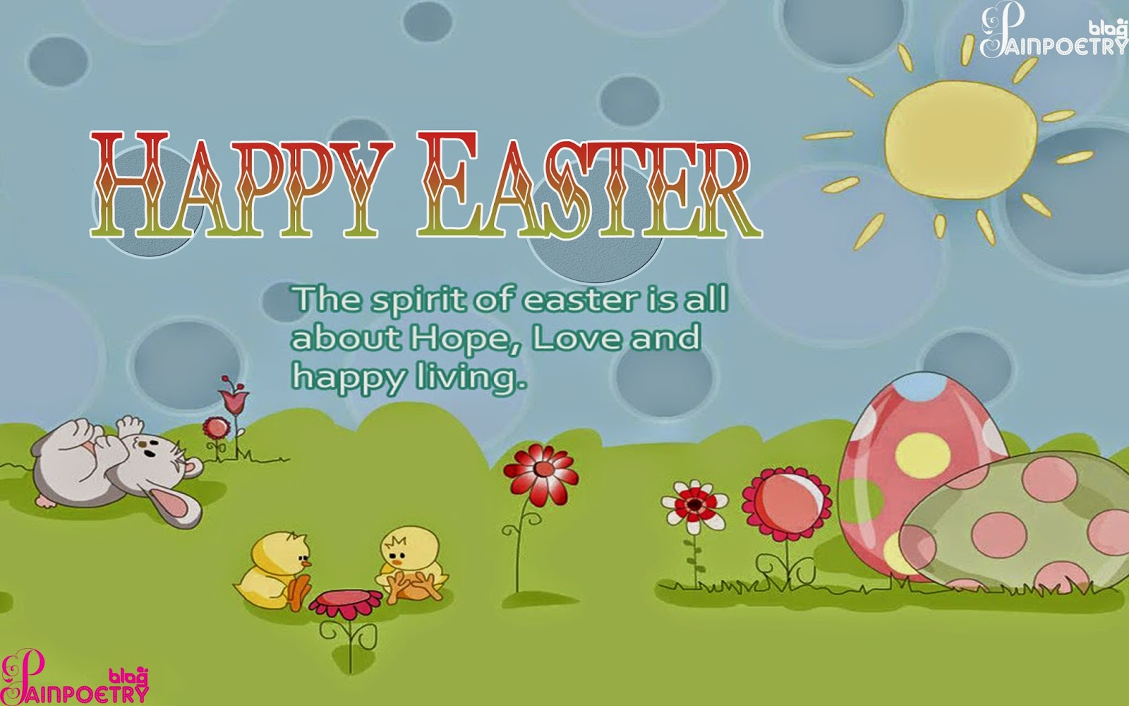 Happy-Easter-Bunny-with-Greeting-HD