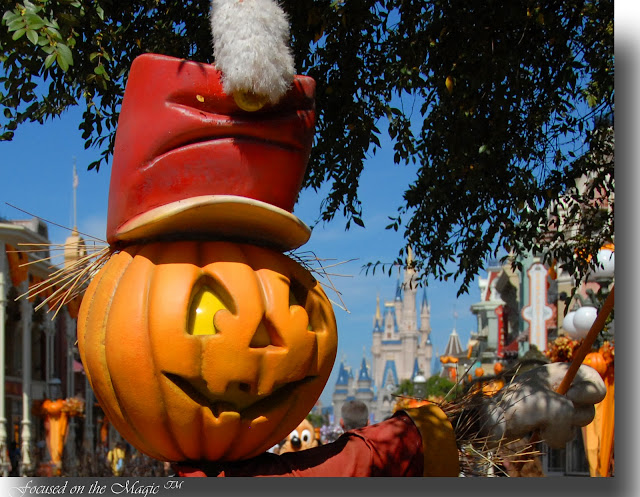 Disney Fall Display, Disney Pumpkin, Magic Kingdom, MNSSHP, Focused on the Magic