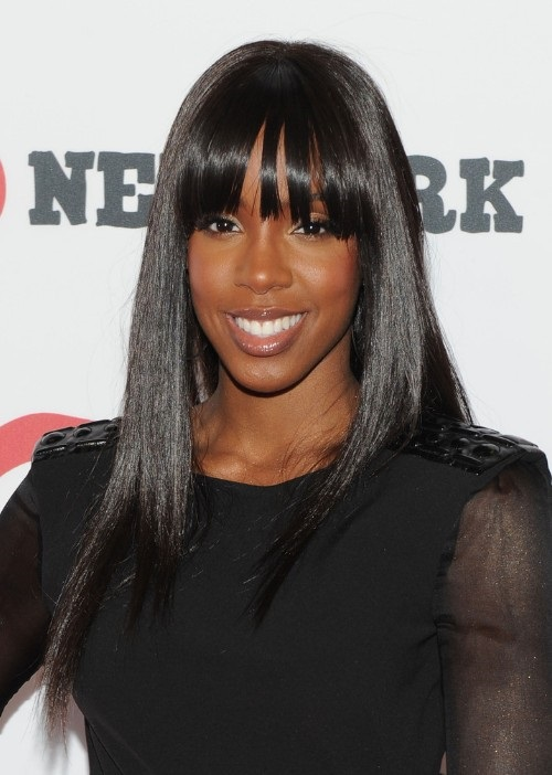 hairstyles for black women with long straight hair