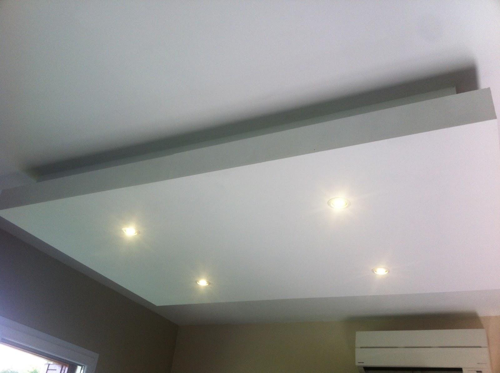 Installation faux plafond moderne