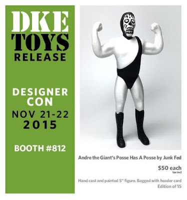 "Designer Con 2015 Exclusive ""Greyscale"" Andre the Giant's Posse Has a Posse Resin Figure by Junk Fed"