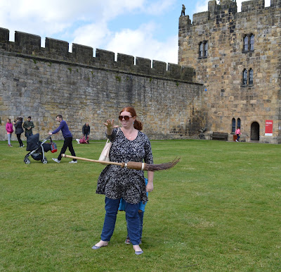 Magic broomstick training at Alnwick Castle