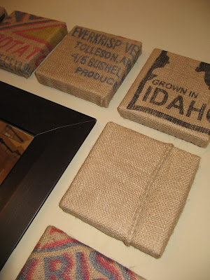 Burlap Potatoe Sack Wall Art - Close Up