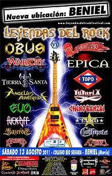 El Leyendas del Rock deja San Javier y se celebrará en Beniel