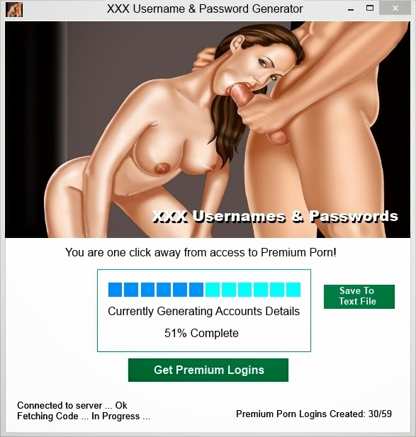 and for porn passwords usernames