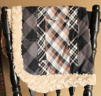 Plaid Baby Boy Blanket Tutorial by This Mama Makes Stuff - TONS of baby blanket tutorials!