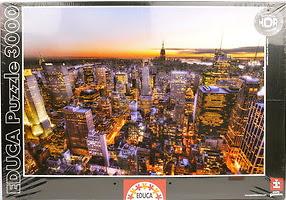 manhattan_sunset_3000_parça_educa_hdr_puzzle