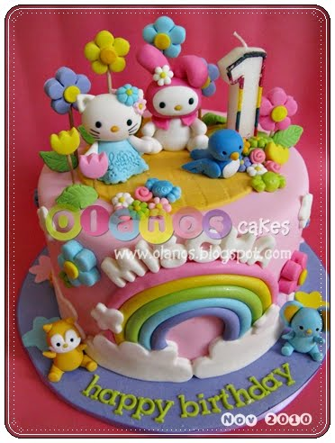 Rement My Melody Twin Star Nd Birthday Cake